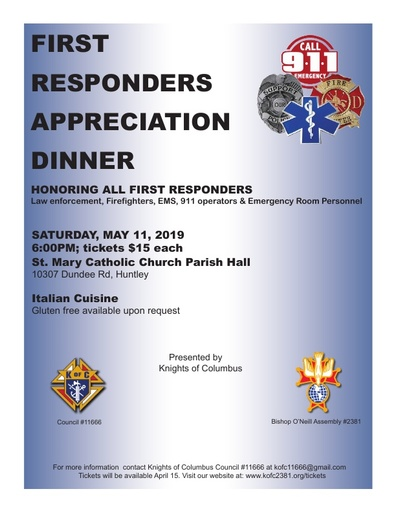 First Responders Apprecication Dinner Flyer